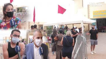 إقبال كبير للمواطنين المغاربة والأجانب على اللقاح الأمريكي جونسون آند جونسون بمركز التلقيح عين الذياب