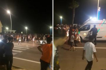 لحظة القبض على  شاب حاول اختطاف أربعة أطفال في ملاهي مدينة مرتيل