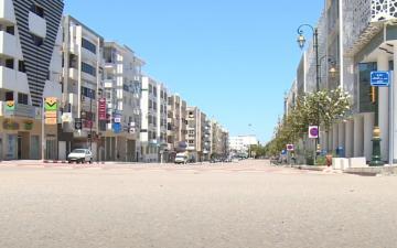 شوارع مدينة الرباط يوم عيد الفطر في ظل الحجر الصحي