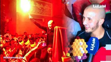 استقبال جماهيري للهداف المغربي محمد أشرف سعود بمقر سكنه بأكادير