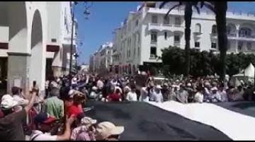 مسيرة شعبية حاشدة في شوارع الرباط تضامنا مع الشعب الفلسطيني وضد صفقة القرن