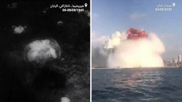 مقارنة بين انفجار مرفأ بيروت وانفجار قنبلة هيروشيما