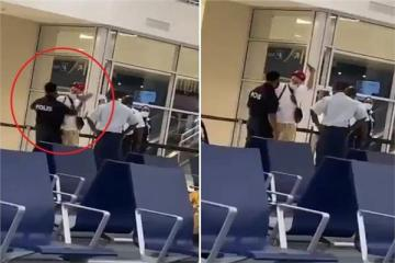 """بالفيديو: شرطي يصفع مغني """"راب"""" شهير قدم فحص كورونا مزورًا في مطار بهولندا"""