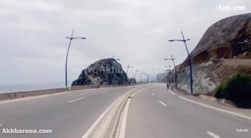 مشهد غير معتاد بالمنطقة الحدودية بين سبتة والمغرب في عز الصيف