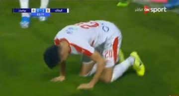 نهائي كأس مصر..بن شرقي يسجل الثالث للزمالك بعد تمريرة أوناجم