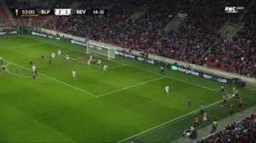 هدف منير الحدادي الخرافي والرائع في مرمى براغ في الدوري الاوروبي