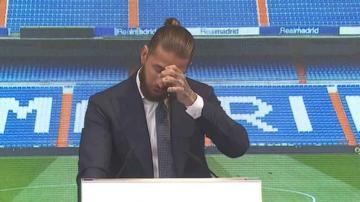 راموس يجهش بالبكاء في حفل توديعه ريال مدريد