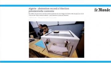 """لوموند: عزوف """"قياسي"""" عن الانتخابات الرئاسية الجزائرية"""