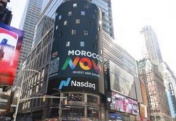 """عرض إشهار حول """"المغرب الآن"""" في أشهر شارع بالولايات المتحدة الأمريكية"""
