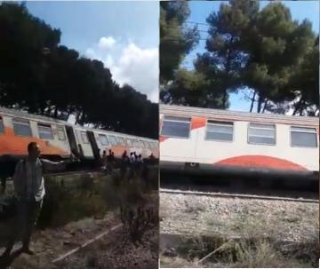 أول فيديو للحظة خروج قطار عن سكته بمدخل الدار البيضاء