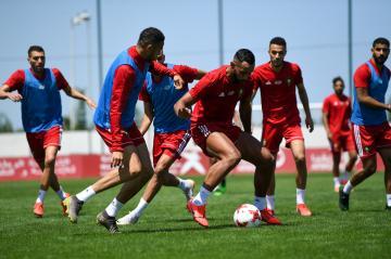المنتخب المغربي يجري أول حصة تدريبية له بالقاهرة استعدادا لكأس أمم افريقيا