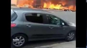 حريق بسوق ولد مينة الحي الحسني بالدار البيضاء