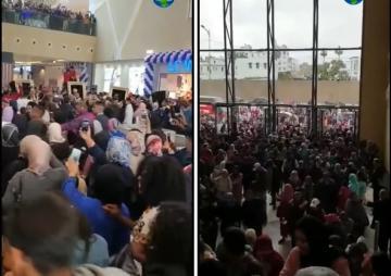 شاهد تزاحم و تسابق مواطنين لدخول مول مارينا كازابلانكا أثناء الإفتتاح
