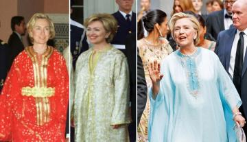 """""""هيلاري كلينتون"""" تروج للقفطان المغربي عبر صفحتها الفايسبوكية الرسمية"""