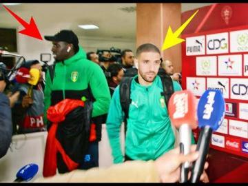 شوفو اللعابة ديال المنتخب هاربين من أسئلة الصحفيين بعد مباراة موريتانيا