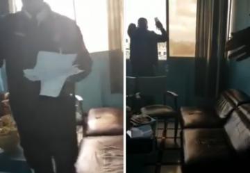بالفيديو ..شرطي ينقذ شخصا حاول الانتحار حرقا بالرباط