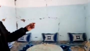 شاهد كيف تضررت منازل بفعل الزلزال الذي ضرب دوار انمل اقليم ميدلت