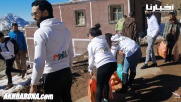 شباب المغرب يوزعون مساعدات بدوار تاشديرت على ارتفاع أكثر من 2400م