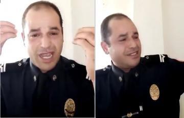 """شرطي يشكو """"الضغوطات والتعسف في العمل"""" ويلجأ الى تصوير فيديو مؤثر"""