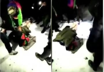 شاهد لحظة العثور على الشابين العالقين في جبل تدغين ليلة الأمس !