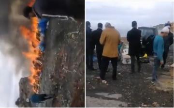 عملية حرق أكبر كمية مخدرات من طرف السلطات بمدينة باسفي