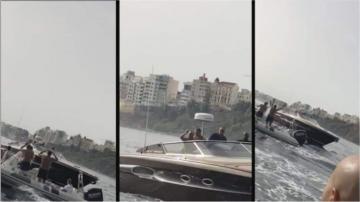 الملك محمد السادس يتجول على متن يخته بين الفنيدق وسبتة ويلتقي بالمواطنين وسط البحر
