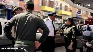 """قائدة """"بوگوصة"""" تشرف على عمليات إخلاء الملك العمومي بمكناس"""