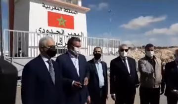 رئيس الحكومة العثماني وأخنوش بمعبر الكركارات