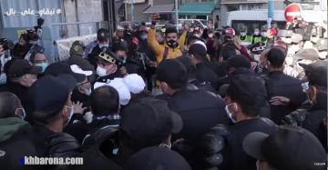 """منع مسيرة الأساتذة المتعاقدين بالبيضاء و""""أستاذة لرجل أمن"""": مادفعنيش أولدي راني قريتك"""""""