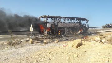 حريق مهول لحافلة مسافرين بين الصويرة وتمنار
