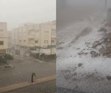 عاصفة رعدية غير مسبوقة بمدينة فاس