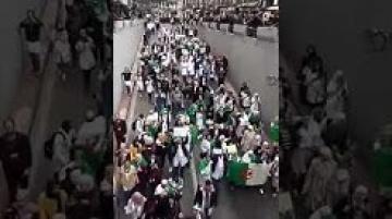 مسيرات حاشدة للأطباء رفضا للتمديد ودعما للحراك الشعبي بالجزائر