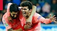 بالفيديو: برشلونة يفوز على ألافيس ويقترب من لقب الليغا