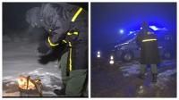 بالفيديو... شاهد كيف يعمل رجال الدرك الملكي في نقط المراقبة تحت الثلوج والبرد القارس (ملابس ثقيلة ومجامر للتدفئة)!