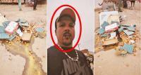 """بائع """"بيض"""" جائل يخيط فمه احتجاجا على إتلاف """"المخازنية"""" لسلعته ويبعث برسالة مؤثرة إلى عموم المغاربة (فيديو)"""