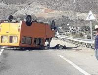 انقلاب حافلة للنقل المزدوج بين تطوان والجبهة..والحصيلة إصابة 5 أشخاص