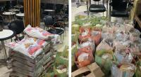 """السلطات تُداهم مقهى وتحقق مع صاحبه و30 زبون وتحجز """"قفف"""" للمساعدات الغذائية"""